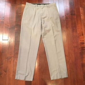 Calvin Klein Flat Front Grey Work Slacks Pants 33